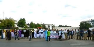 Manifestation de familles de détenus à Rabat (photo DR)