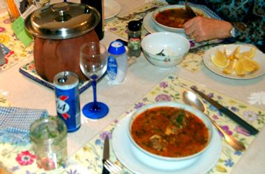 La chorba, ce sont 7 légumes en plus de l'huile d'olive et un peu de jus de citron (photo Dahmane Soudani)