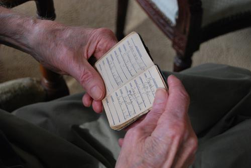 Le carnet-journal de John Whitmore (photo Dahmane Soudani)