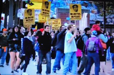 Des manifestations ont suivi le verdict de samedi (photo d'écran-Answer DR)