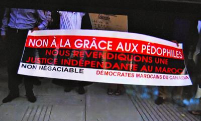 Les manifestants expriment leur indignation et leur colère (photo d'écran RDI DR)