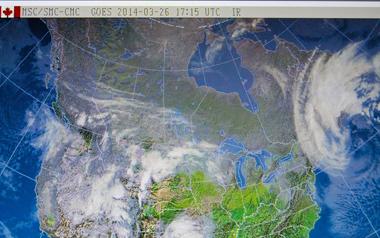 Image satellite diffusée par météo Canada (photo écran-DS)
