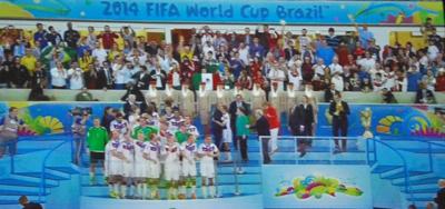 La sélection allemande : après l'effort, le temps est à la fête (photo d'écran)