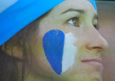 Des yeux brillants pour l'Argentine qui restera dans les cœurs (photo d'écran)