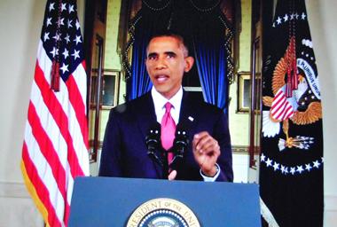 Obama déroule son plan de guerre contre l'EI (photo écran-DR)