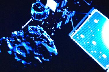 Dans quelques heures, Philae se posera sur la comète Tchouri (photo d'écran DR)