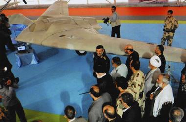 Le drone iranien (copie d'écran agence TNA)