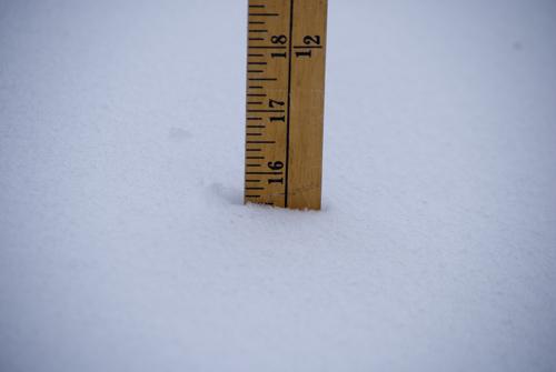 Épaisseur du manteau neigeux (photo DS)