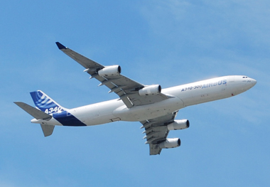 L'Airbus a dévié de sa trajectoire (photo Dahmane Soudani)