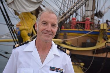Le commandant de l'Hermione Yann Cariou (photo Dahmane Soudani)
