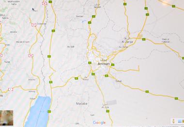 C'est au sud-ouest d'As Sall près de Tell al-Hammam que se trouverait l'antique Sodome (photo écran-DR)