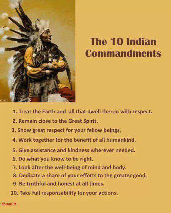 Commandements-amérindiens